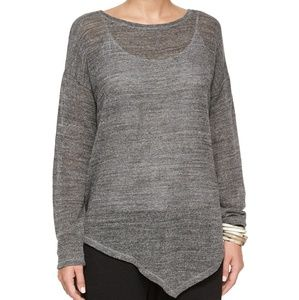 Eileen Fisher Melange Cotton Mesh Asymmetric Tunic
